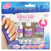 Kiss Broadway Nails Real Life Brush-On Gel Nail Kit 1 Kit