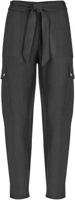 Mint Velvet Black Belted Cargo Trousers