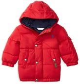 Ralph Lauren Infant Boys' Matte Finish Hood Down Puffer Jacket - Sizes 3-24 Months