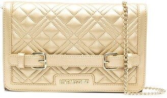Love Moschino Belt-Strap Quilted Cross-Body Bag