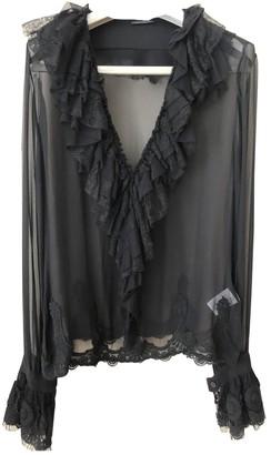 Anna Molinari Black Silk Top for Women