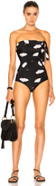 ADRIANA DEGREAS Bug Life Strapless Swimsuit