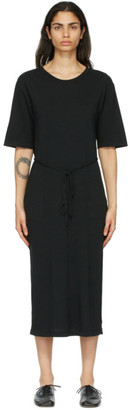 Raquel Allegra Black Belted Tee Dress