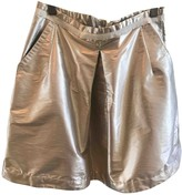 Moncler Silver Polyester Skirts