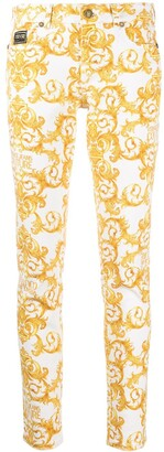 Versace Jeans Couture skinny Barocco-print trousers