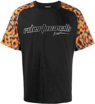 Roberto Cavalli graphic animal print T-shirt