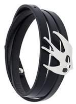 McQ Women's Black Leather Bracelet.