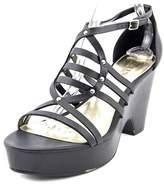 Lauren Ralph Lauren Raegan Open Toe Leather Platform Sandal.