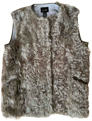 Etoile Isabel Marant Anthracite Mongolian Lamb Coat for Women