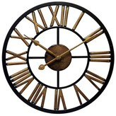 Infinity Instruments Micro Fusion All Weather Wall Clock - Black