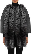 Barneys New York Women's Fur-Front Wool-Cashmere Coat
