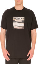 Givenchy Cuban-Fit Vintage Logo-Print T-Shirt, Black