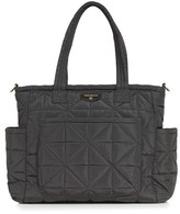 Infant Twelvelittle 'Love' Water Resistant Nylon Diaper Tote - Black