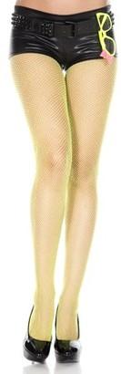Music Legs Glittery fishnet spandex pantyhose 90014-PINK/SLV