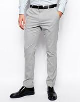 Asos Skinny Fit Suit Trousers In Grey