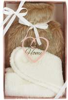 Love Home LOVE HOME - Faux Fur Hot Water Bottle & Sock Set