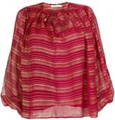 Mes Demoiselles metallic stripe blouse