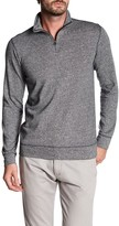 Vintage 1946 Marled French Terry Knit 1/4 Zip Henley Tee