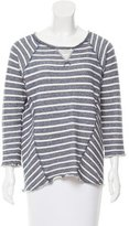 Rebecca Taylor Striped High-Low Sweater