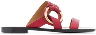 Chloé Ring Detail Flat Sandals
