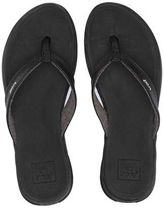 Reef Women's Rover Catch Black Flip Flops,5 UK