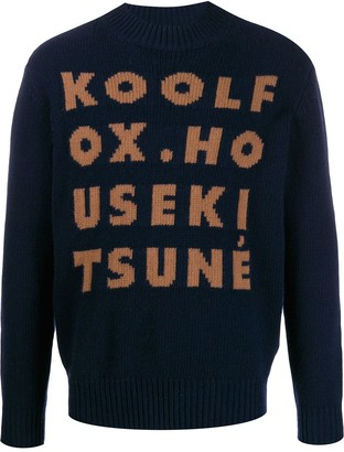 MAISON KITSUNÉ Knitted Text Jumper