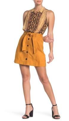 Joie Neida Suede Button Up Mini Skirt