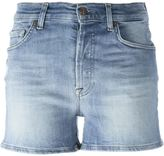 7 For All Mankind stretch mid-rise shorts - women - Cotton/Polyester/Spandex/Elastane - 24