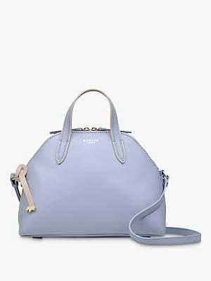 Radley Gallery Road Leather Multiway Handbag, Light Blue