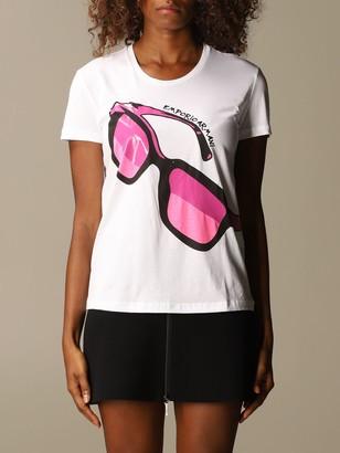 Emporio Armani T-shirt Cotton T-shirt With Glasses Print