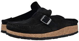 Birkenstock Buckley (Black Suede) Women's Clog Shoes