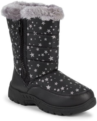 Capelli New York Baby Girl's, Little Girl's & Girl's Quilted Star-Print Faux Fur-Trimmed Boots