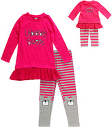 Dollie & Me 'Unbearably Sweet' Leggings Set & Doll Outfit - Girls