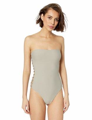 Vicious Young Babes   Vyb Vicious Young Babes - VYB Junior's Strappy Side Bandeau One Piece Swimsuit