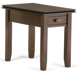 Three Posts Gosport Solid Wood End Table with Storage Color: Russet Brown