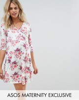 ASOS Maternity - Nursing ASOS Maternity NURSING Wrap Dress in Light Vintage Floral Print