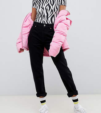 Monki Moluna high waist straight leg jeans with organic cotton in deep black