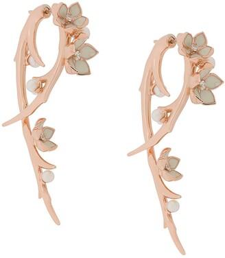 Shaun Leane Cherry Blossom diamond Hook earrings