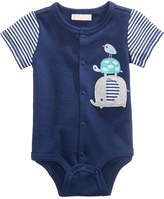 First Impressions Animal Buddies Graphic-Print Cotton Bodysuit, Baby Boys, Created for Macy's
