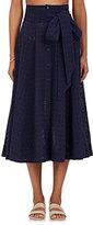 Lisa Marie Fernandez Women's Cotton Cover-Up Maxi Skirt-Navy