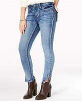 Rampage Juniors' Studded Skinny Jeans