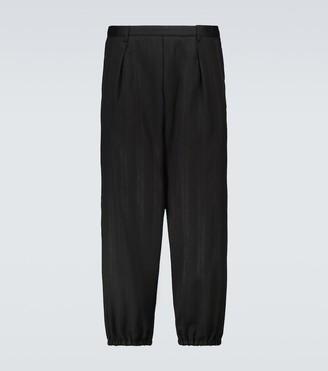 Saint Laurent Hakama pleated wool-blend pants