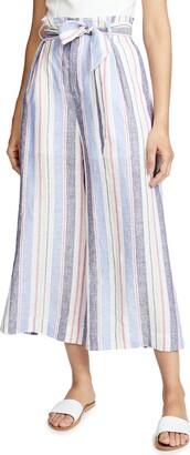 Parker Women's Robbie high Waist Linen Wide Leg Cropped Pant