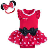 Disney Minnie Mouse Costume Bodysuit for Baby - Red - Personalizable