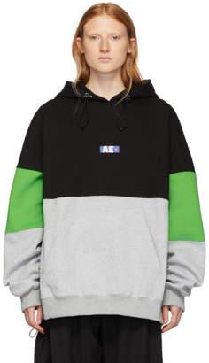 Ader Error ADER error Green and Black AE Hoodie