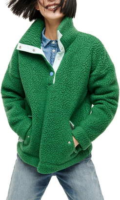 J.Crew Snap Collar Polartec® Sweatshirt