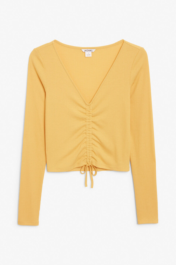 Thumbnail for your product : Monki Long-sleeve ruche top