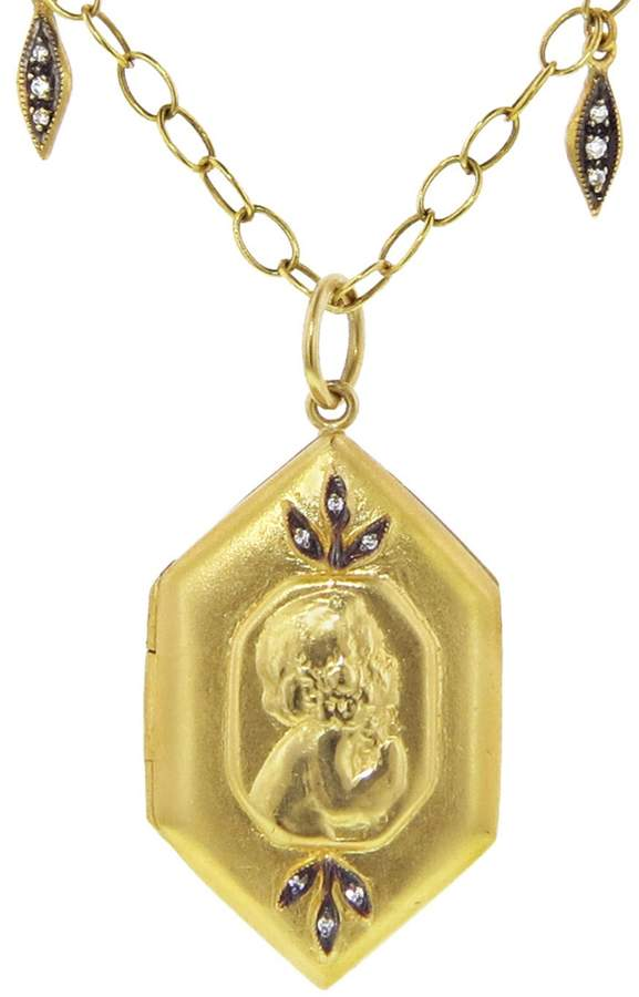 Cathy Waterman Child Charm Locket - 22-Karat Gold
