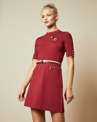 Ted Baker ELSBETH Knitted A-line dress