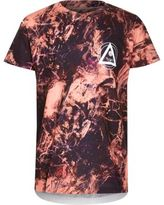 River Island Boys orange tie dye print T-shirt